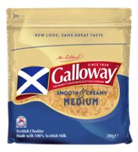 Galloway Coloured Medium Grated Cheddar