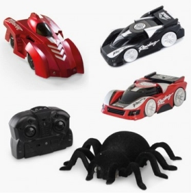 RED 5 wall climbing RC cars and spider
