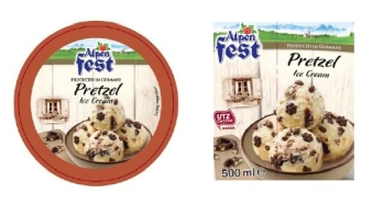 Alpenfest Pretzel Ice Cream