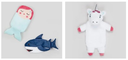 Mermaid, Shark and Unicorn Hot Water Bottles