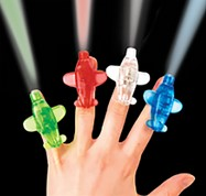 Aeroplane finger lights