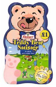 Teddy bear sausage